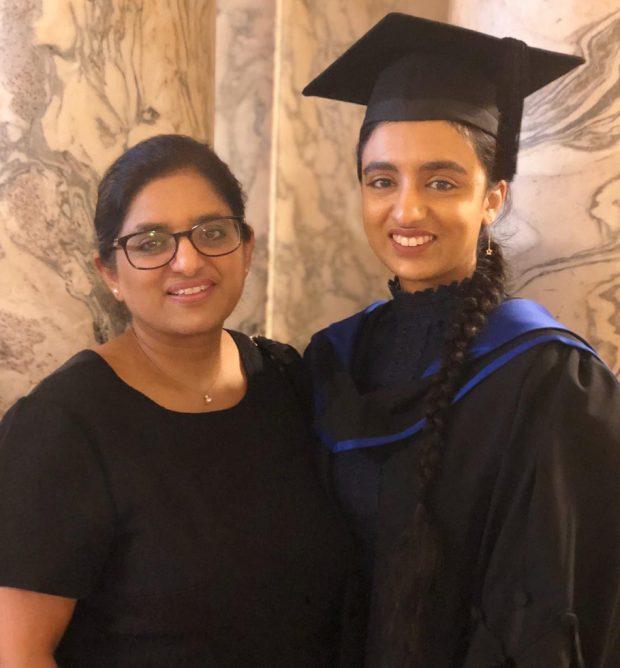 Arpinder Kaur Bansi and daughter Mandeep Bansi at graduation.