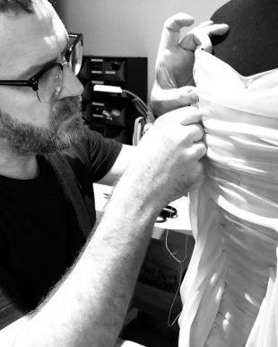 Man making a dress
