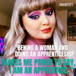 Woman apprentice